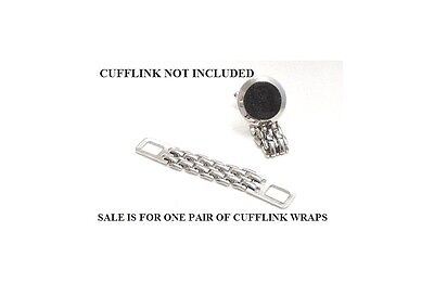 New Silver Cufflinks Wrap Add this to any cuff link for a new look FREE SHIPPING