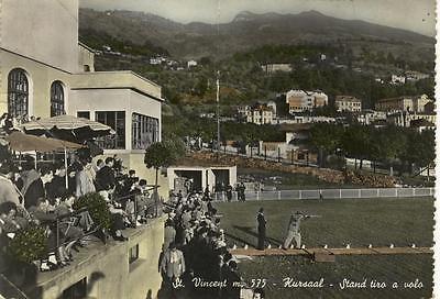 ST. VINCENT KURSAAL STAND TIRO A VOLO VIAGGIATA 1956