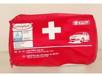 SENSIPLAST CAR FIRST AID KIT DIN 13164 KALFF TUV CERTIFIED EASY TO HANDLE CASE.*