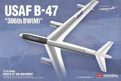 Academy USAF B-47 1/144 scale airplane model kit new 12618  1 144 Scale Airplanes
