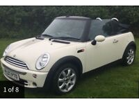 07 Mini Convertible 1.6cc *Pepper White*Only 48k Miles*Serviced*BARGAIN £3600 £3600!!