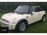 07 Mini Convertible 1.6cc*Only 48k Miles*Serviced*Pepper White* BARGAIN £3600!!