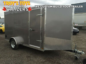 Canadian Made 6' x 12' V-Nose Cargo Trailer • 3 Year Warranty