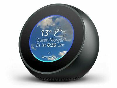 Amazon Echo Spot Bluetooth Lautsprecher mit Bildschirm und Alexa Schwarz NEU ()