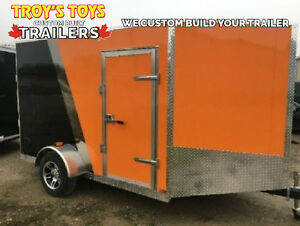 7'x10' V-Nose Cargo Trailer • Harley colours • Lots of upgrades