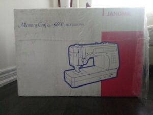 Brand New Janome Memory Craft 6600 Professional sewing machine