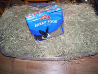 Free rabbit food and supplies.