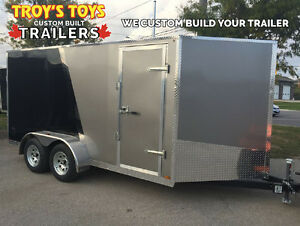 Canadian Made 7' x 14' V-Nose Trailer • 3 Year Warranty