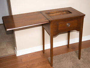Vintage Wooden Sewing Machine Table/Cabinet Cambridge Kitchener Area image 2