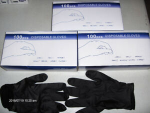 Black Nitrile Disposable Mechanics Gloves
