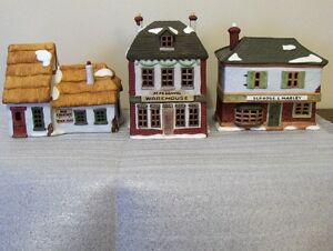 Dickens Christmas houses - rare discontinued ones