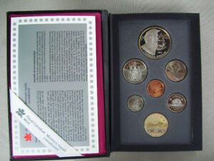 Canadian Mint Silver Dollar Proof Coin Set - 1995