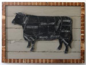 Butcher Shop Cow Sign