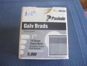 "PASLODE GALVANIZED 1"" 16 GAUGE FINISH NAILS"