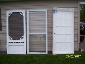New aluminum sceen door/with two free doors