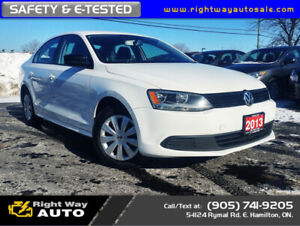 2013 Volkswagen Jetta Comfort | WINTER TIRES | SAFETY & E-TESTED