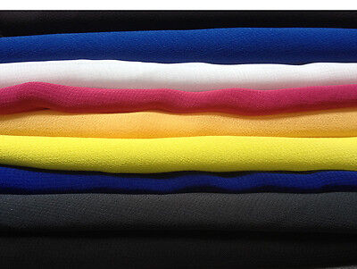 Polyester Crepe Chiffon Fabric --cheapest on Ebay -- New Colours Added !!