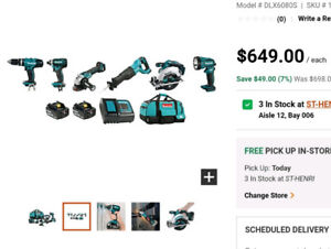 MAKITA 18V Combo Kit (6-Piece)