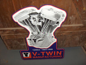 New Harley V-Twin Motor Metal Signs..