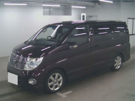 2007 (57) NISSAN ELGRAND 3.5 V6 Highway Star Red Leather Switchable 4x4 4WD NE51