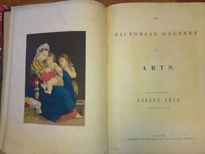 """Antique book """"Pictorial Gallery of the Arts"""""""