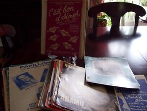 vieille feuilles de musique