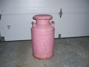 **ANTIQUE METAL MILK CAN**