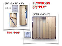 """(443-19)  TABLETTES PLYWOODS """"FINI PIN"""" { 7 PLY }  0.65$ /P.C"""