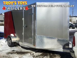 2017 Canadian Trailer Company 7x12 V-Nose Pewter and Red Cambridge Kitchener Area image 1