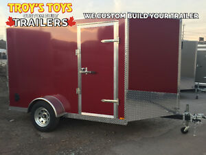 6' x 10' V-Nose Cargo Trailer • Canadian Made •  3 Year Warranty