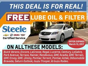 Free Lube Oil and Filter* Buick Models GMC Terrain & More!
