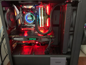 Custom RGB Gaming PC - I7 8700K 5Ghz + 1080ti and more