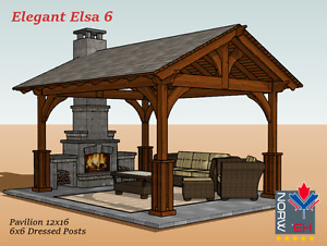 Gorgeous Pavilion, Pergola & Gazebo Kits FY Outdoor Living