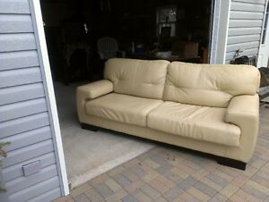 Leather Couch for Sale -Point Edward Village Garage Sale