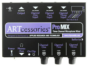 NEW ART ProMix 3 Channel Microphone Mixer