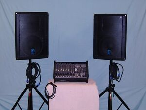 Yorkville M1610 Pwr Mixer Package PA system  ELITE speakers Windsor Region Ontario image 9
