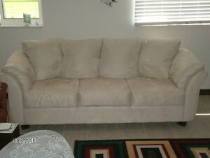 STONE COLOUR COUCH/MINT CONDITION/LESS THAN 2 YRS OLD