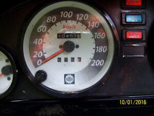 Skidoo Mach Z Grand Touring Formula Deluxe lll Touring speedo