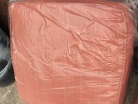 "Orangish 4"" deep patio cushions great for dogs"