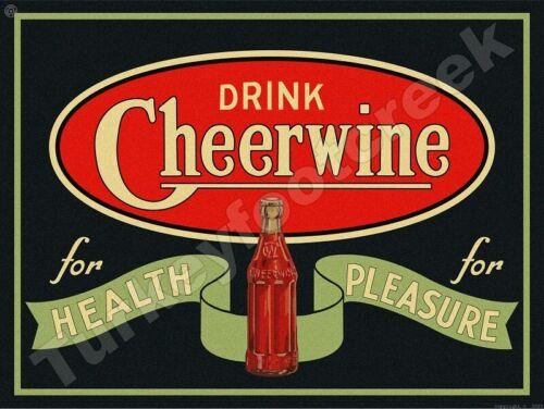 "DRINK CHEERWINE 9"" x 12"" METAL SIGN"