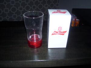 Budweiser Red Light NHL HOCKEY Goal Sync Glass COOL