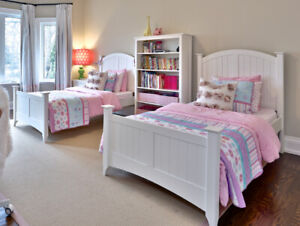 WHITE TWIN BEDS - FULL PACKAGE!