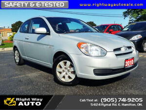 2010 Hyundai Accent SE | SAFETY & E-TESTED