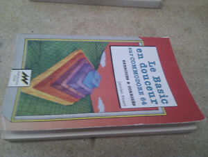 Lot de livres variés, basic, commodore 64c, autres