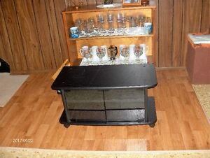 Black & Glass Tv Stand