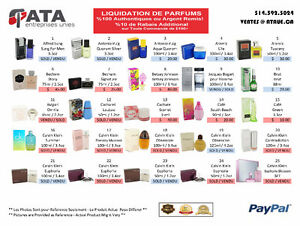 PARFUMS AUTHENTIQUES a MOITIE PRIX/AUTHENTIC PERFUME LIQUIDATION