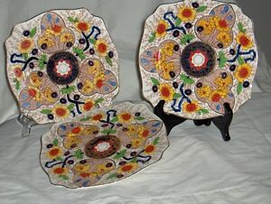 Art Deco style Royal Stafordshire hand painted plates Cairo 8920 West Island Greater Montréal image 3