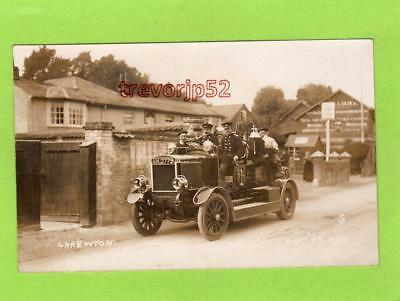 Shrewton Salisbury Fire Brigade Engine 1913 RP pc used Marett Ref D188