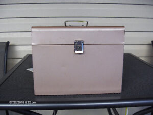 Small portable filing cabinet