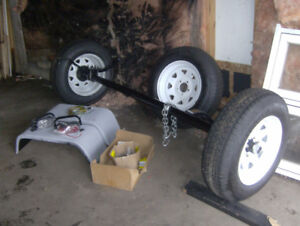 All New 3500lb  Axle , 3 Tires, U -bolts, Leaf-springs, ext.